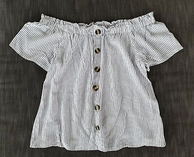 **JEANS WEST** Gorgeous Ladies Size 12 Black & White Stripe Top**
