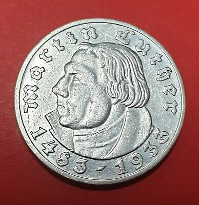 1933G 5 Reichsmark Martin Luther (Uncirculated) Rare!!!