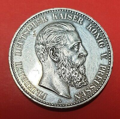 1888A PRUSSIAN FUNF MARK PROOF COIN (UNC) Exceptionally Rare !!!!