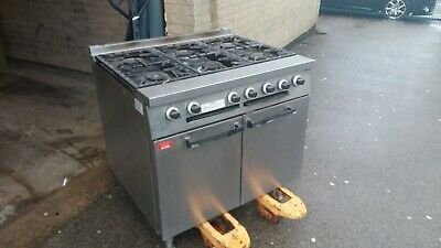 Falcon Commercial Six Burner Gas Cooker Oven Stainless steel
