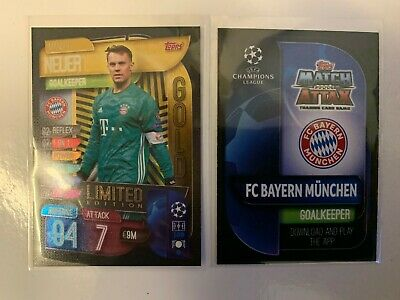 Match Attax 2019/20 Manuel Neuer Gold Limited Edition Champions League card ##