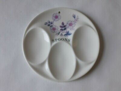 Vintage Ceramic Spoon Rest / Stand Pretty Floral Design