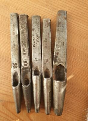 DIXONS Oval Punch Set of 5 Saddlery Leather Work tools