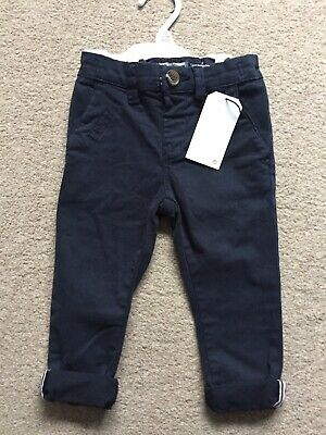 Next Boys Navy Trousers 9-12 Months New NWT