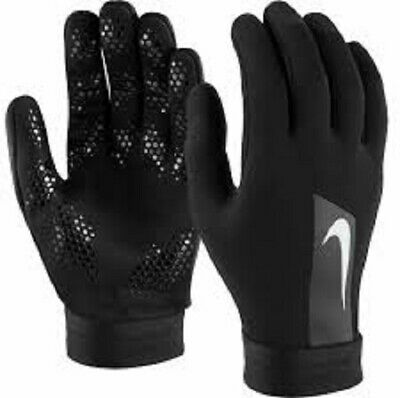 Nike Academy Hyperwarm Black Field Player Gloves Large Football Training