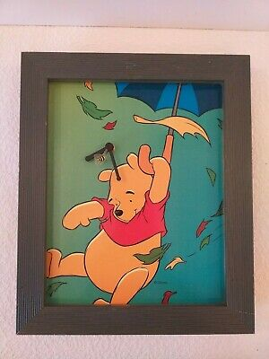 Vintage Winnie The Pooh Wooden Wall Clock - 36 Cm By 30Cm - Working