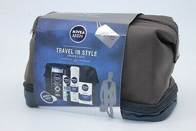 Nivea Men Gift Set, Travel in Style Gift Pack for Him with 5 Items