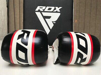 Boxing Gloves RDX Giant Rox & Leather Wall Pad Punch Bag Kick Shield Strike Thai