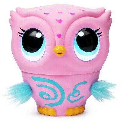 Owleez Baby Owl Flying Interactive Toy with Lights and Sounds (Pink) Used