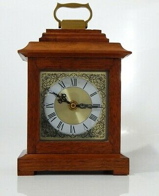 Mantle Clock, Real Wood Case, Junghans Electro/Mechanical Movement, Working.