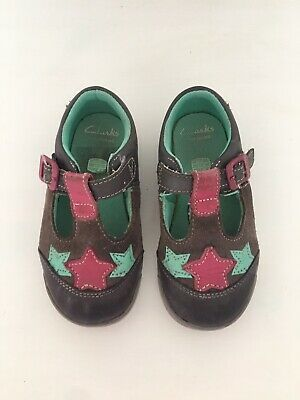 Baby Girls Infant Clarks Shoes Size 6.5 F