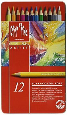 Caran dAche Supracolor Soft Pencils - Assorted Colours Tin of 12