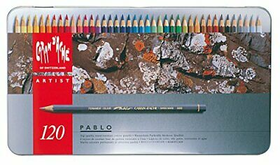 Caran DAche Pablo artists quality colouring pencils tin set of 120 assorted wat
