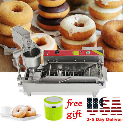 Automatic control Commercial Donut Fryer Maker Making Machine Donut Make+Gift US