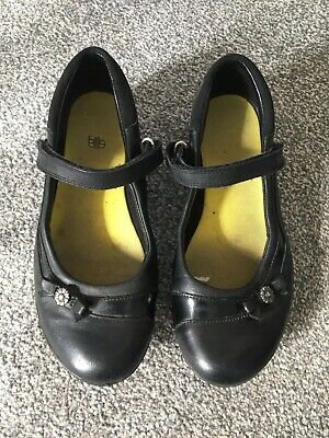 Clarks Girls Child's School Shoes Black Leather Size 3 G