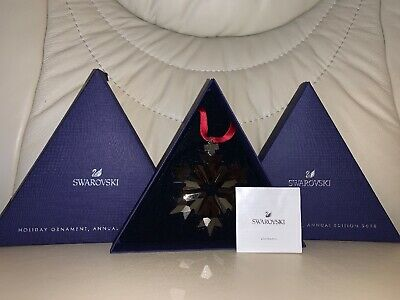 Authentic Swarovski Crystal 2018 Holiday Ornament, Annual Edition Color Red