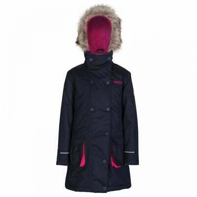 Regatta Trapeze Girls Waterproof Breathable Padded Parka Jacket Navy Age 3-4yrs