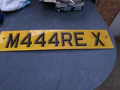 private number plate M444 REX ( Marie/Mary)