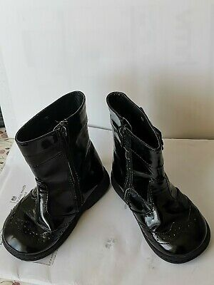 Girls Mothercare Black Patent Boots UK Size Infant 6