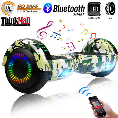 """Bluetooth Hoverboard Electric Self Balancing Scooter LED UL2722 6.5"""" Bag Camou"""