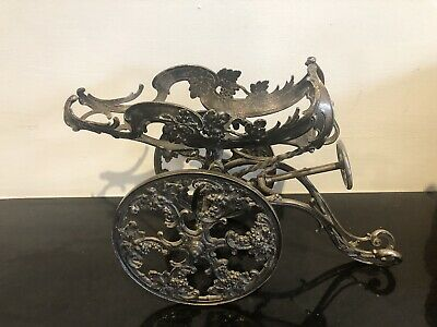An Antique Wmf Silver Plate Wine Carriage With Marks Underneath