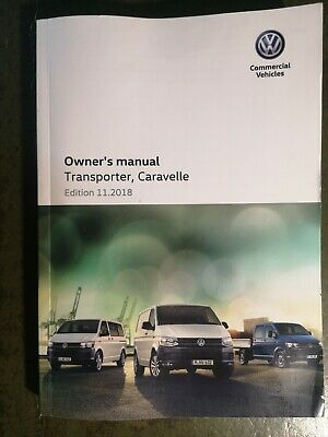 Vw Transporter Caravelle Handbook / Owners Manual 2015 2019 / 333 Pages