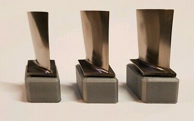 Silver 3D mounted Rolls Royce RB199 Titanium Turbine blade - Great Gift