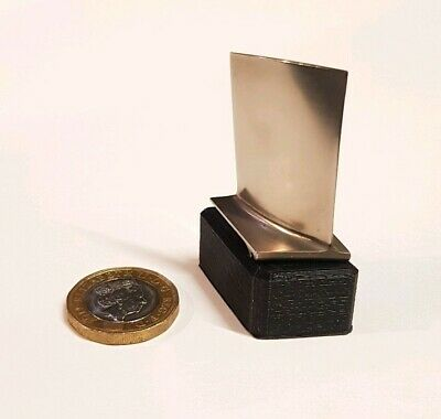 Midnight Black 3D mounted Rolls Royce RB199 Titanium Turbine blade - Great Gift