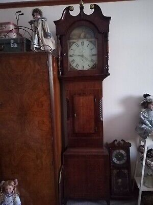 Antique Longcase Grandfather Clock John Barraclough Of Haworth