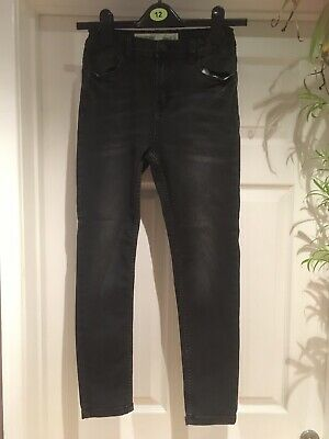 Boy's Primark Denim & Co Black Skinny Jeans Aged 10-11 Years (146cm)