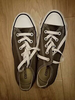 Converse All Star Trainers - Girls/Women's, Grey, UK Size 4
