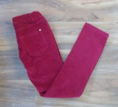 Zara Kids Girls Red Corderoy Trousers Size 7-8 Years 128cm With Light Stains