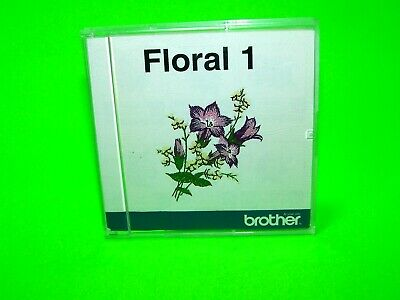 EUC Brother Floral 1 Embroidery Card Designs PES Format