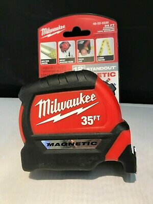 Blue Print Double Sided MILWAUKEE 48-22-7135 35ft Magnetic Tape Measure