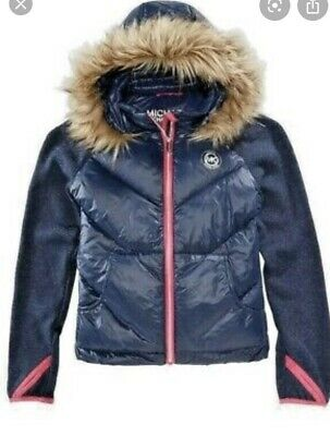 Michael Kors Girls jacket with removable fur hood size 7/8