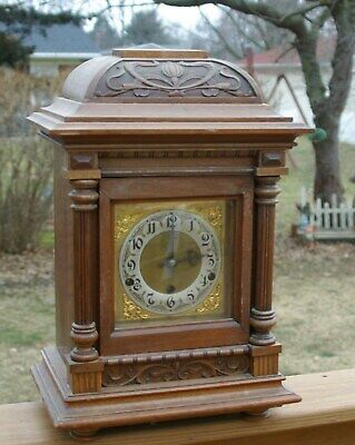 antique WESTMNSTER BRACKET CHIME CLOCK 8 DAY GUSTAV BECKER JUNGHAMS WURTTEMBERG