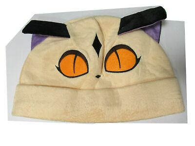 Hat Cat Beige Ears Purple Costume Fancy Dress
