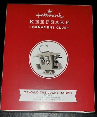 2018 Hallmark Keepsake Member Ornament Disney Oswald The Lucky Rabbit