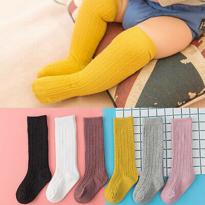 Newborn Baby Socks Girls Boys Infant Knee High Socks Warm Soft Solid Stockings
