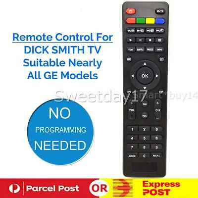 Dick Smith Tv Remote Control Led Lcd Dse Multiple Model Ge Numbers Au Stock Y