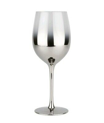 Small Wine Glass with Silver Fade x4