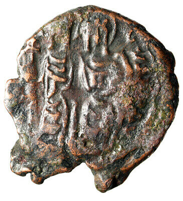 CERTIFIED AUTHENTIC Ancient Byzantine Coin of Justin II Seated with Wife Sophia