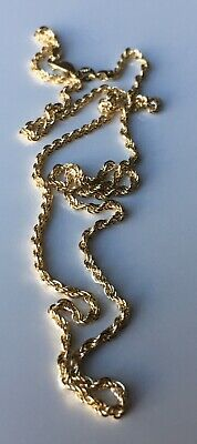"2mm 14kt Yellow Gold Rope Chain Necklace 18"" Brand New In Box"