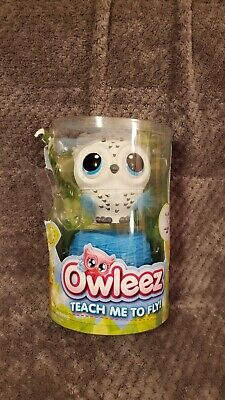 Owleez Flying Baby Owl Interactive Toy White- NEW- MISSING FOOD PIECE