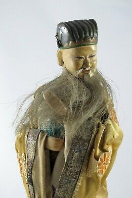 Antique Japanese Standing Hina Doll 1914-1925 - Old Male Attendant with COA