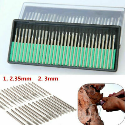 30Pcs Diamond Drill Bits For Dremel Steel Rotary Burrs High Speed Wood Carving