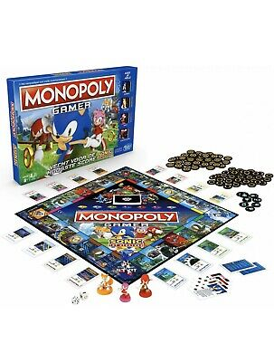 Monopoly Gamer Sonic The Hedgehog Edition Board Game for Kids Ages 8 & Up New
