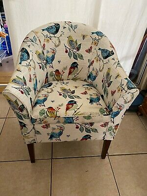 NEW Upholstered Tub Chair Sparrow Bird Upholstery