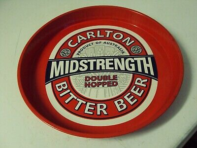 Carlton Mid Strength Bitter Beer Tray Tin Drink Collectable Bar Mancave