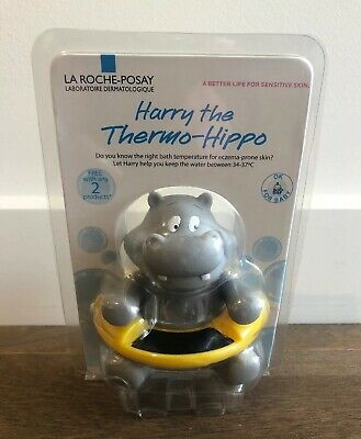 Brand New! HARRY THE THERMO-HIPPO BABY BATH THERMOMETER FOR WATER TEMPERATURE